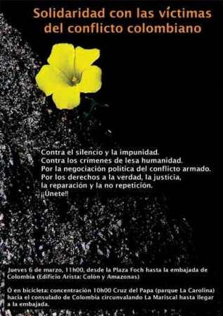 Solidaridad desde Quito con Colombia