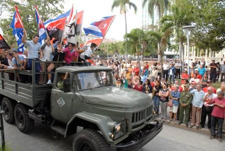 Conmemoran entrada de Fidel a Santa Clara